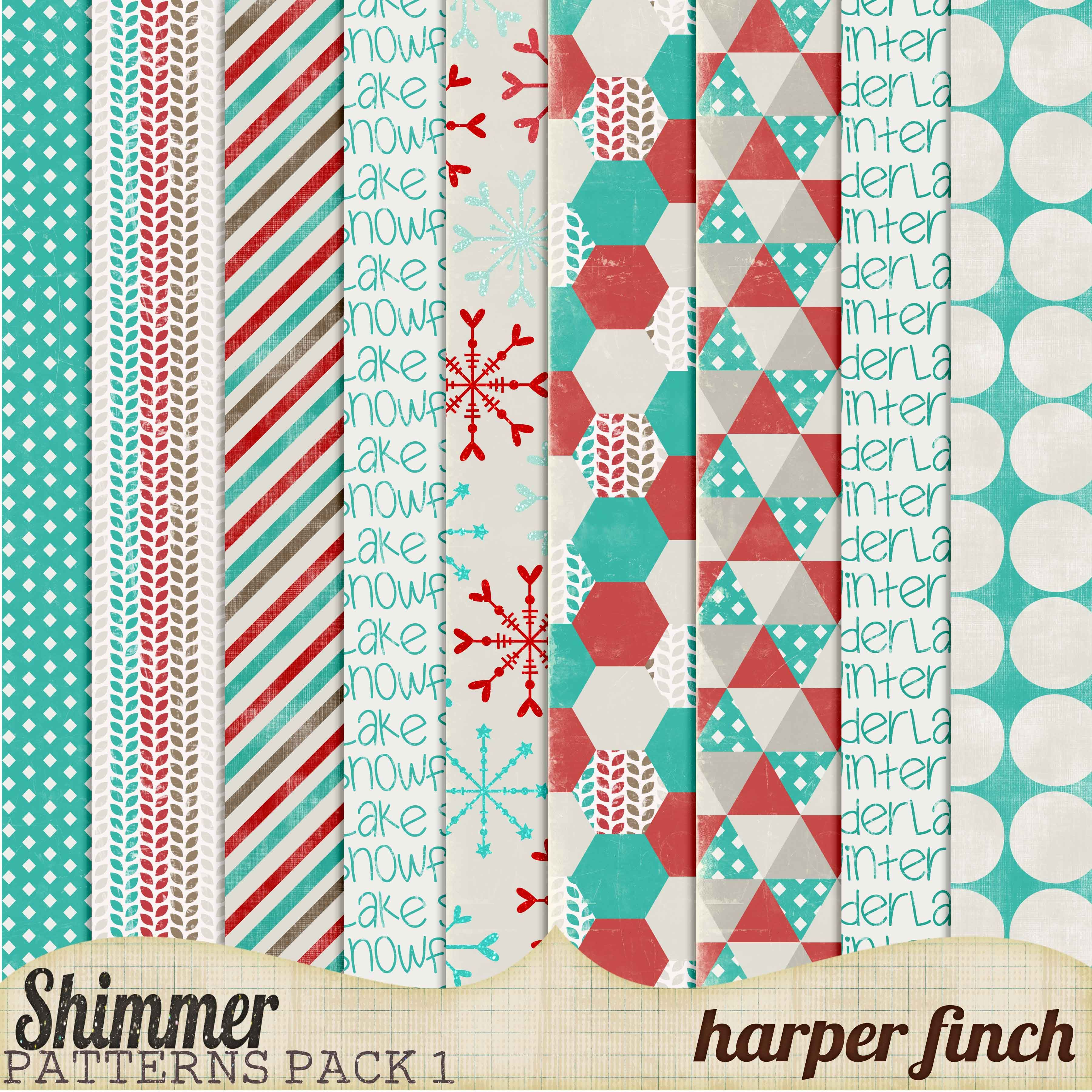 Shimmer, Pattern Paper Pack One by harperfinch.deviantart.com on @DeviantArt