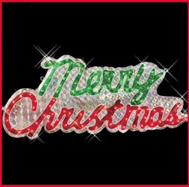 46 merry christmas sign holographic 46 100 lights indoor outdoor decoration ebay