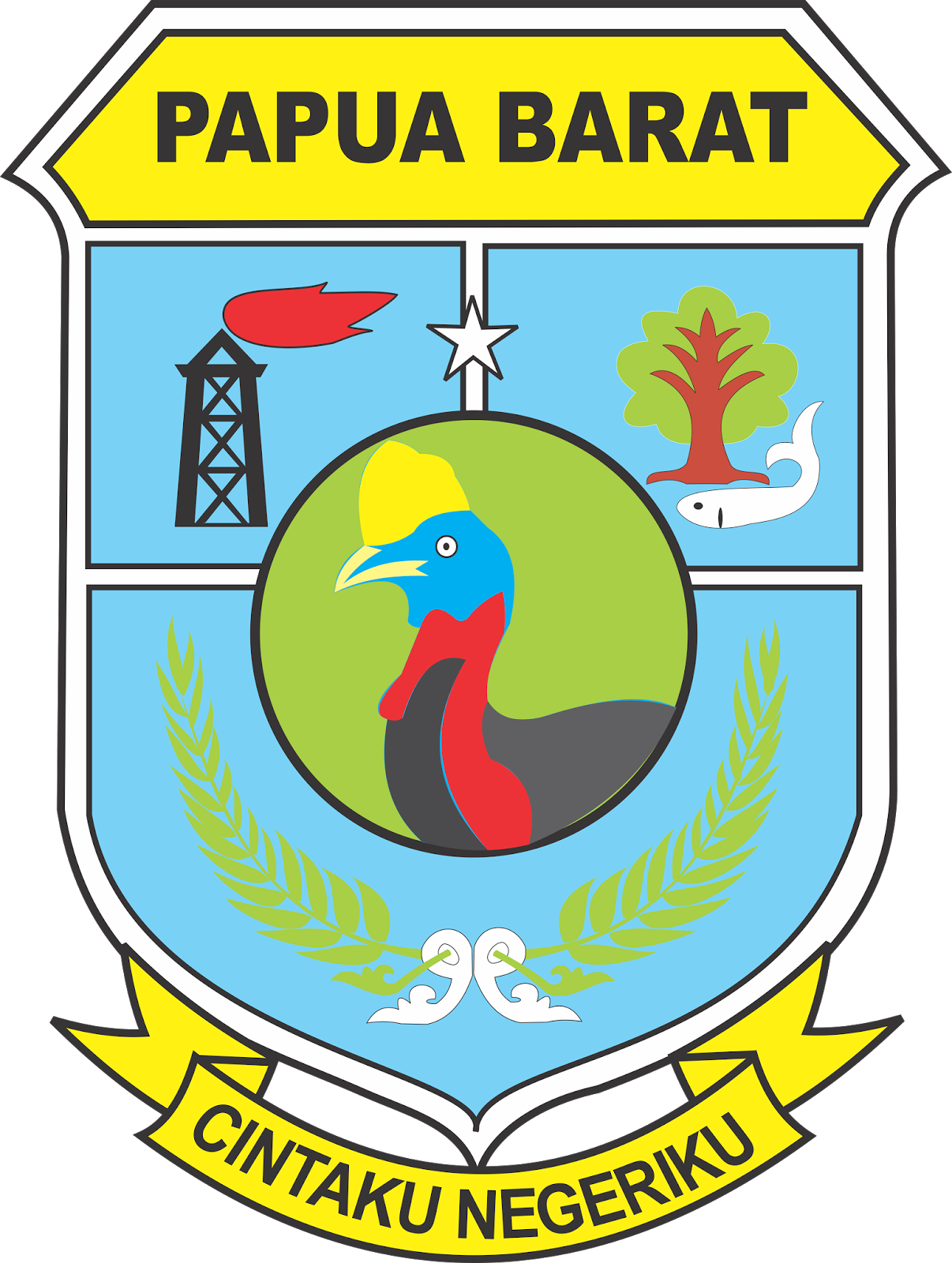 Logo Provinsi Papua Barat Vector File CDR CorelDraw