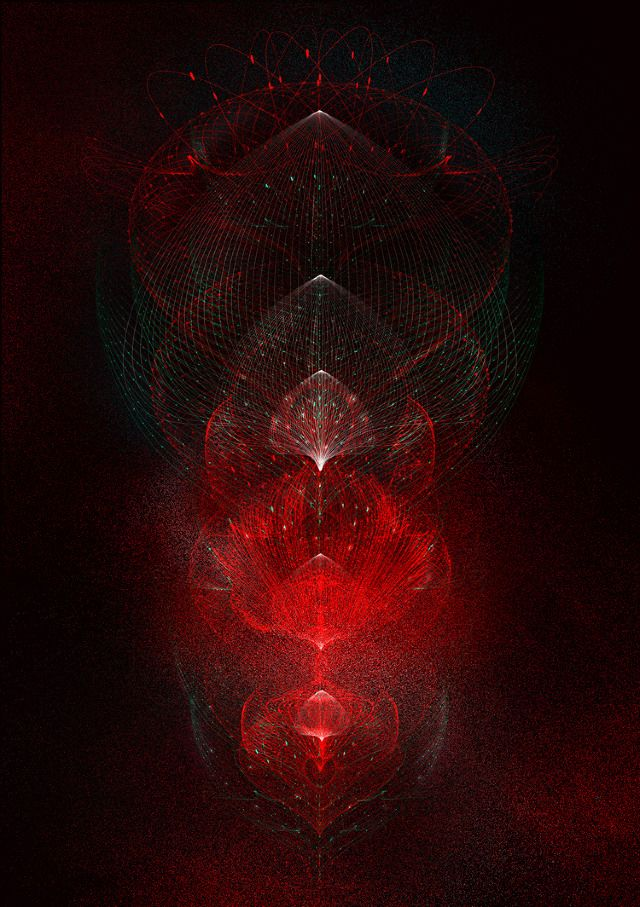 Red Complexity Graphics by Tatiana Plakhova