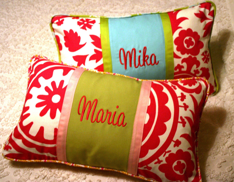 Ella Pearl custom designed pillows and monogram.