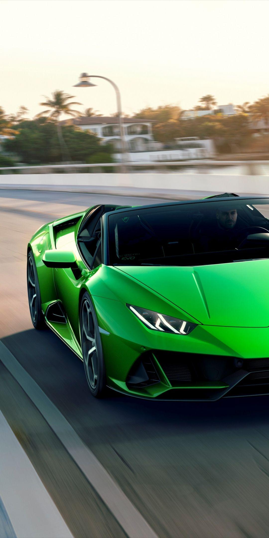 On Road Luxury Sports Car Lamborghini Huracan 1080x2160