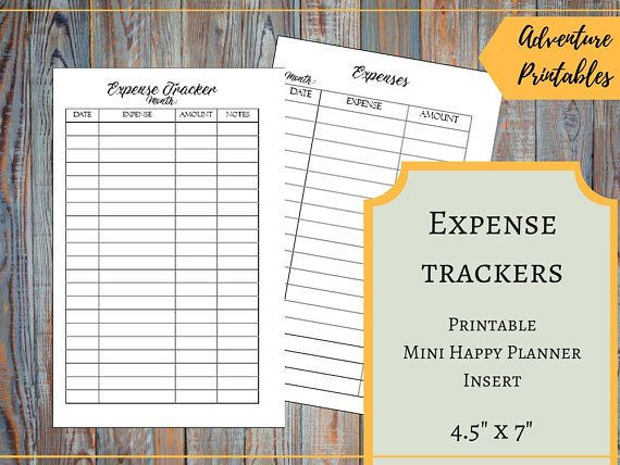 Expense Trackers for the Mini Happy Planner, Spending Tracker
