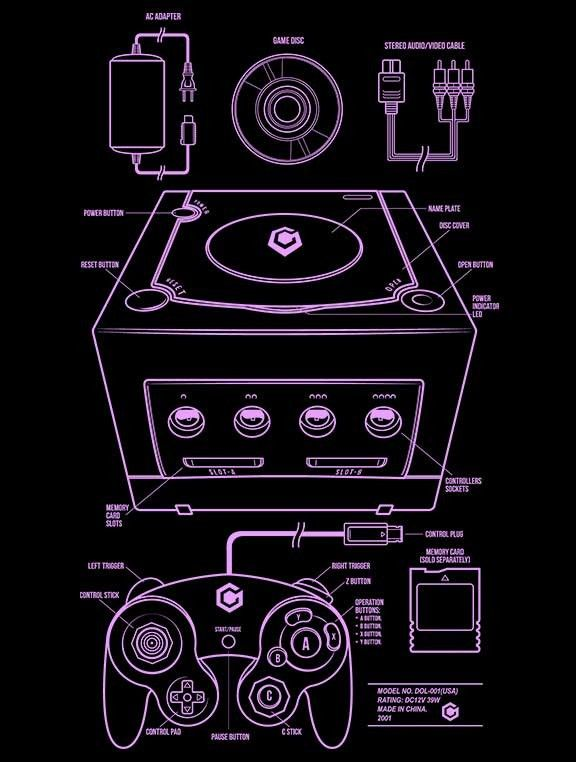 GC T-Shirt $12 GameCube tee at Once Upon a Tee!