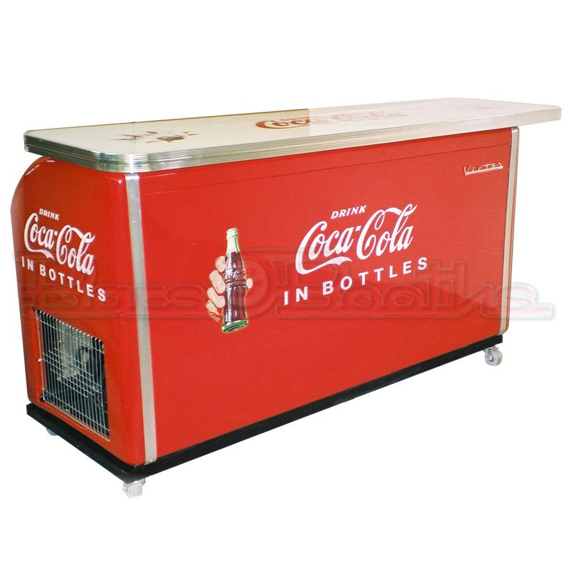 Victor 2 door cooler bar completely restored to like new for 1 door retro coke cooler