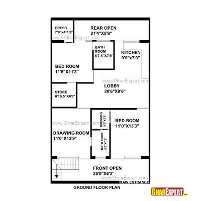 Architectural Plans Naksha Commercial And Residential Project Gharexpert Com House Plans With Pictures House Plans House Map