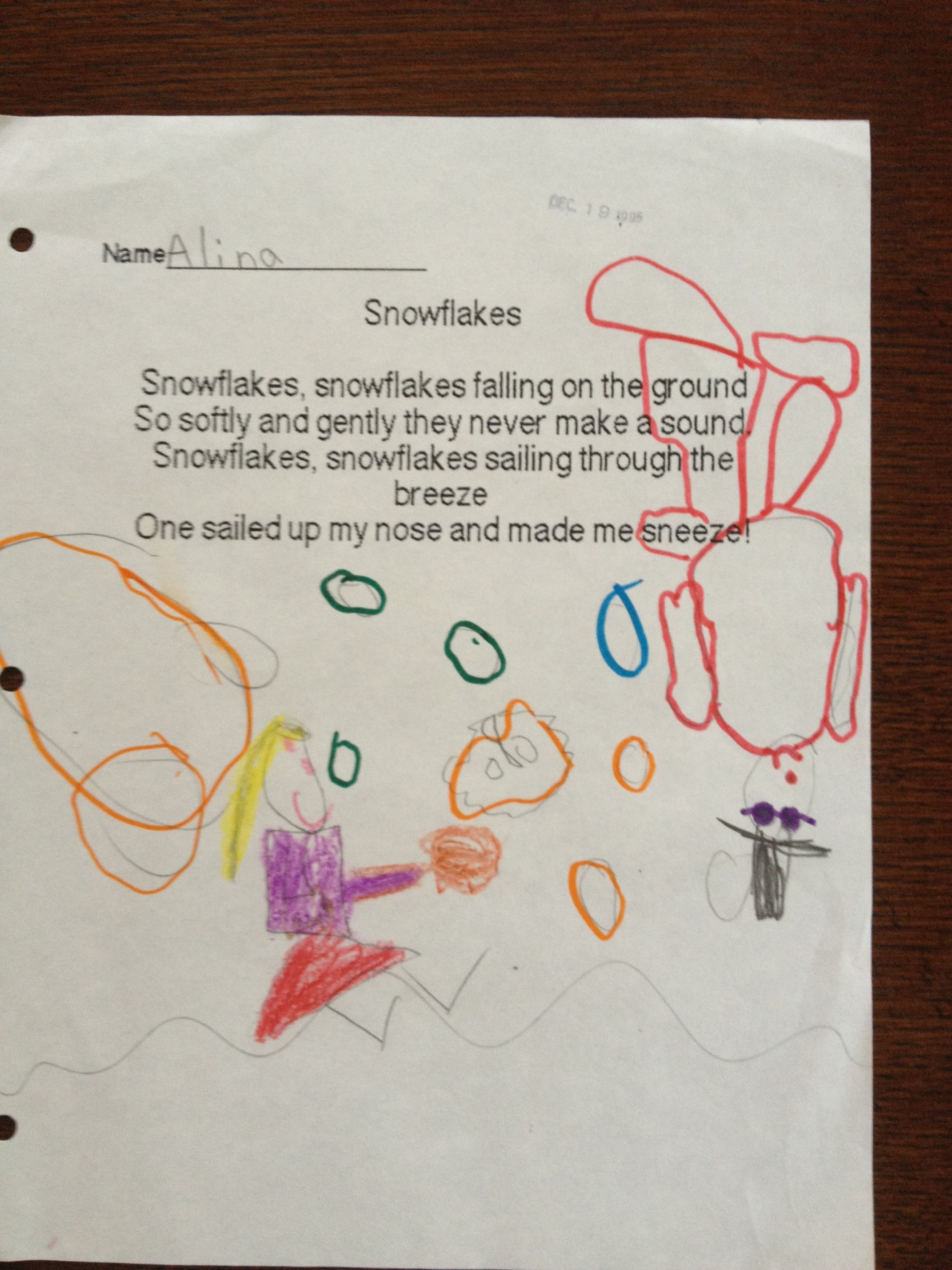 Winter Preschool Poem
