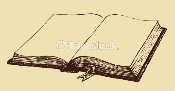 Vector Drawing Old Open Book With A Bookmark Vector Drawing Book Tattoo Book Drawing