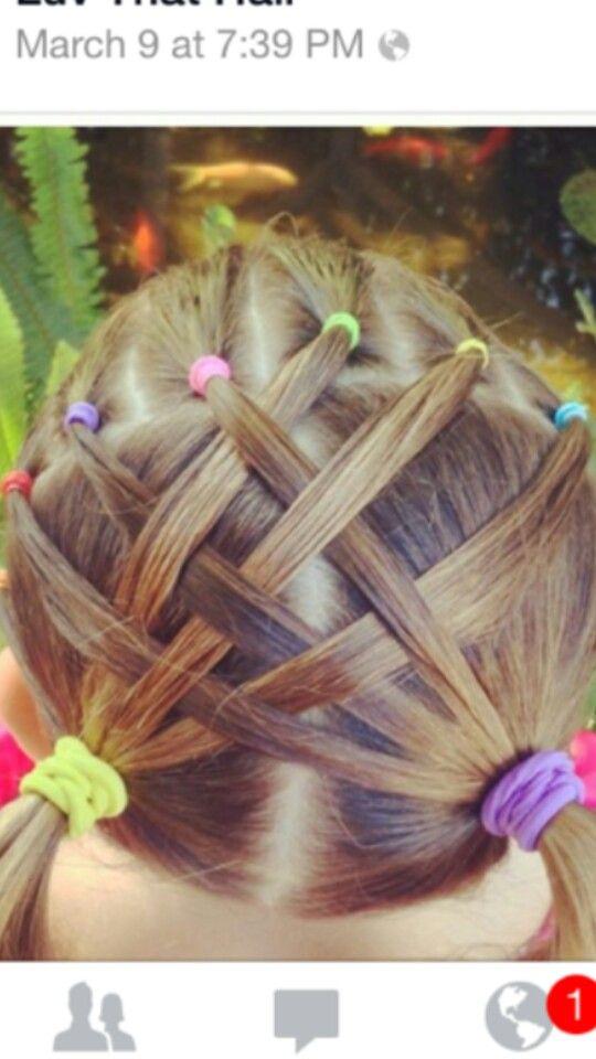 Looks so easy! | Frisuren, Kinder haar, Kinderfrisuren