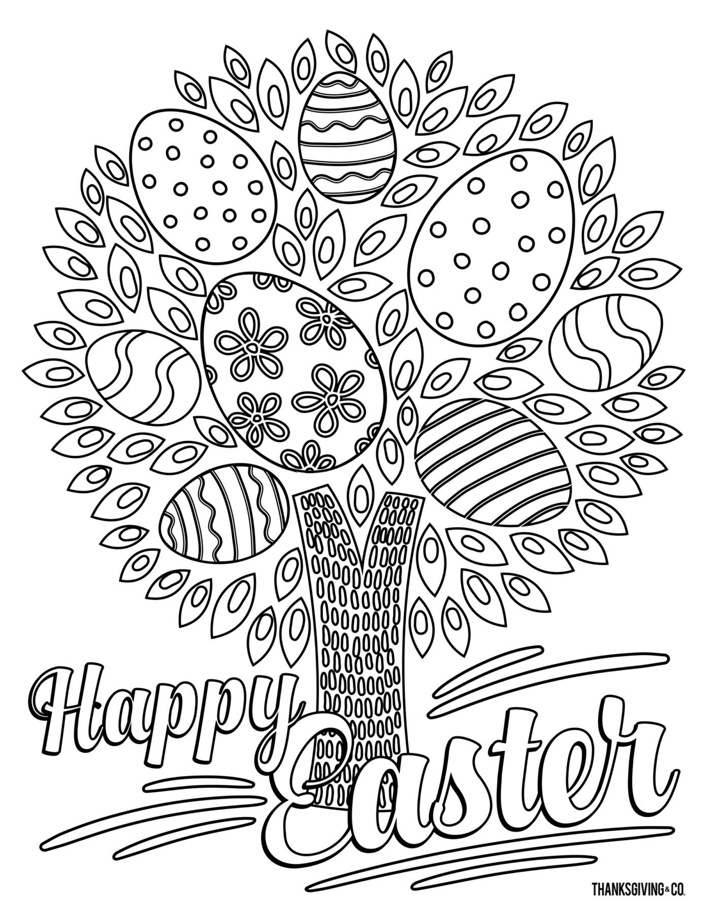 5 Free Printable Easter Coloring Pages That Ll Relieve Stress For Adults From Make Easter Coloring Pages Easter Coloring Pages Printable Easter Printables Free [ 1812 x 1400 Pixel ]