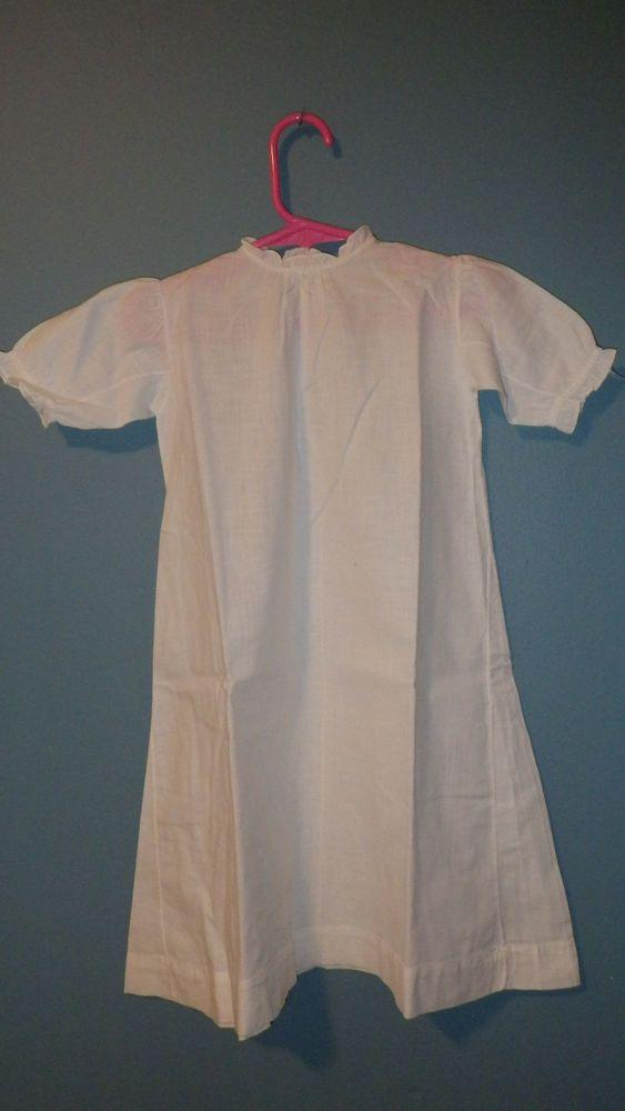 Vintage Baby Gown/Slip/Dress Plain White Cotton | Baby Love ...