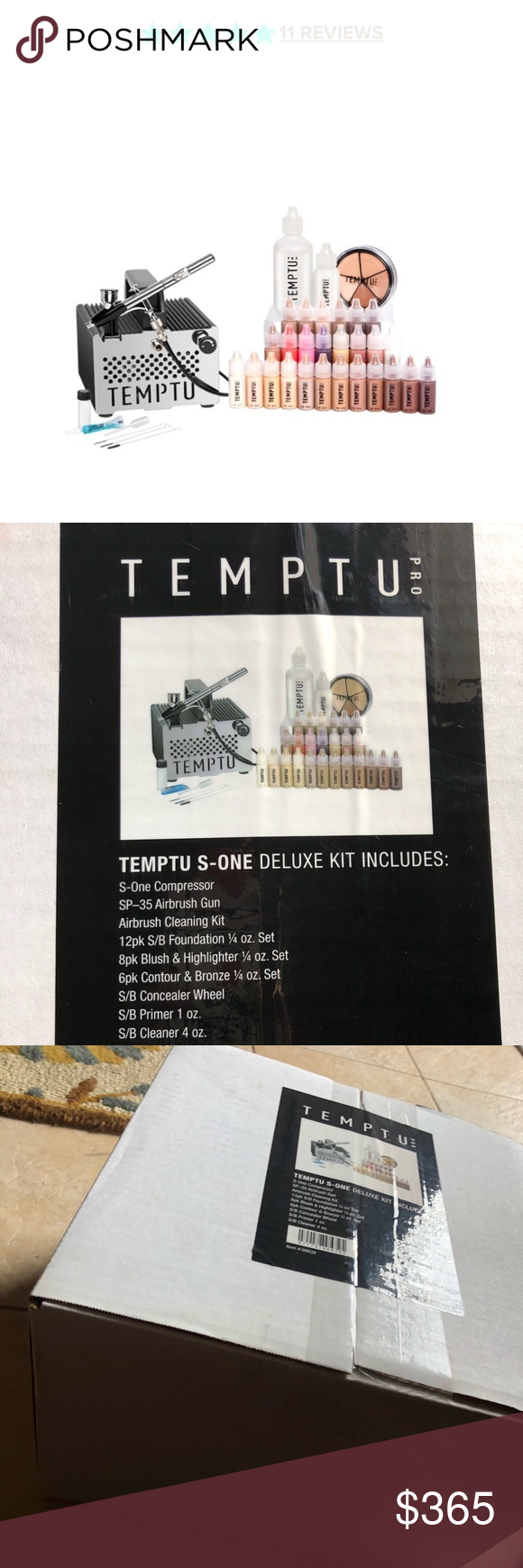 TEMPTU SONE DELUXE KIT UNUSED A STAPLE FOR MAKEUP ARTISTS