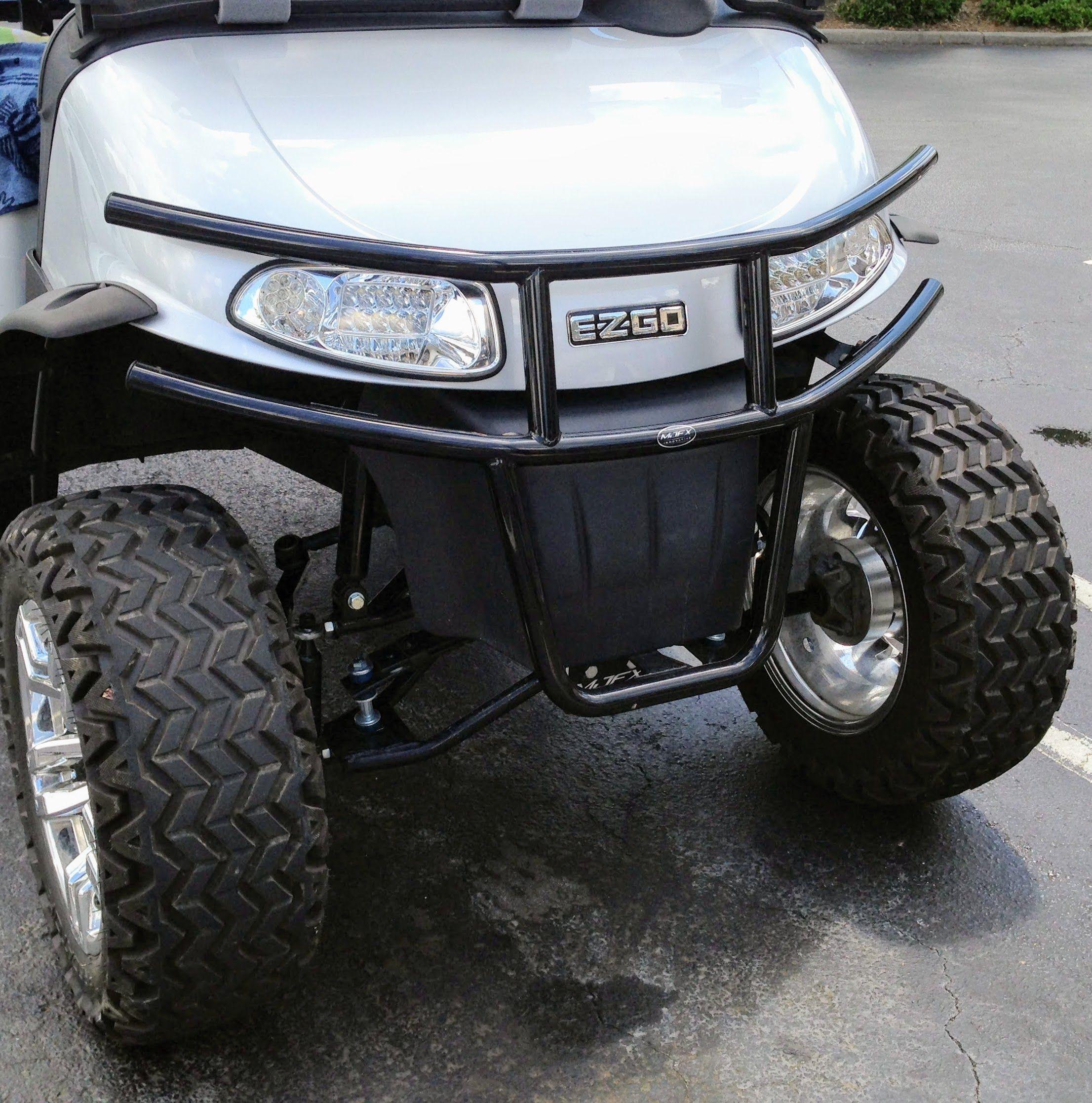 EZgo golf cart brush guards add a custom look.