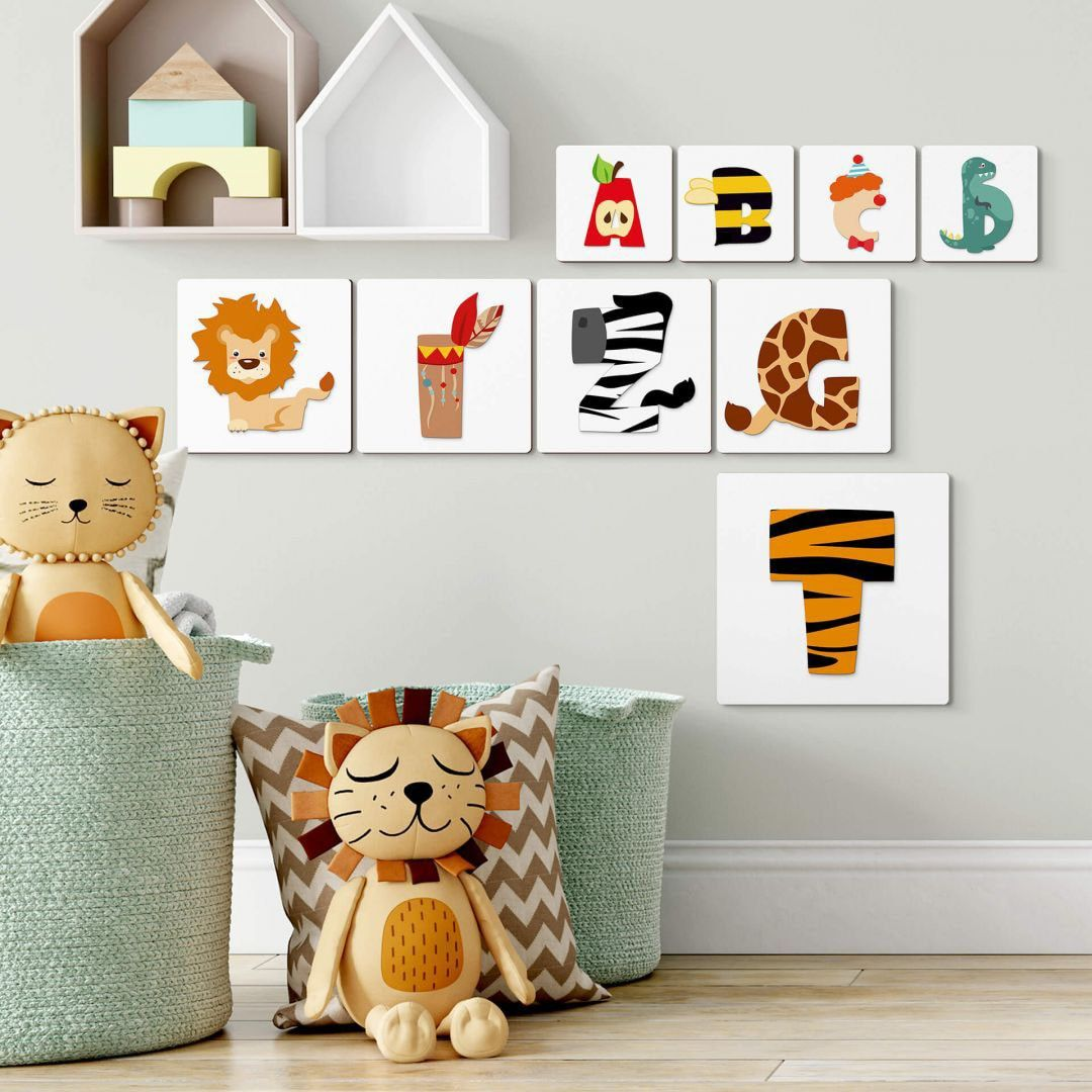 Wall-Art Deko-Buchstaben Lernbuchstaben Kinderzimmer 15cm