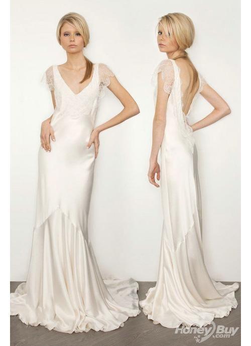 Cheap V Neck Wedding Dresses
