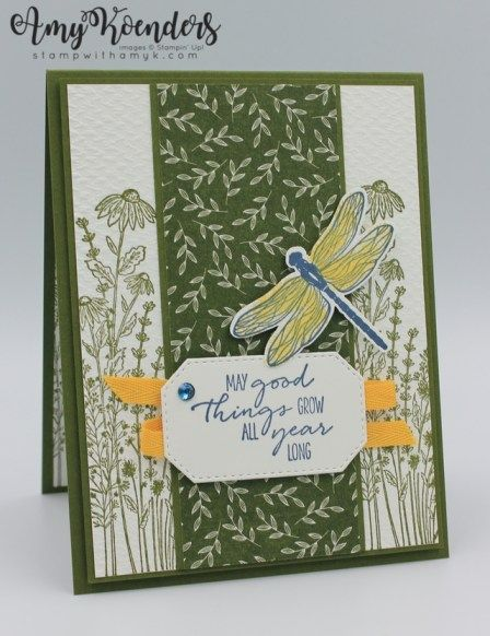 Stampin' Up! Dragonfly Garden Birthday Card