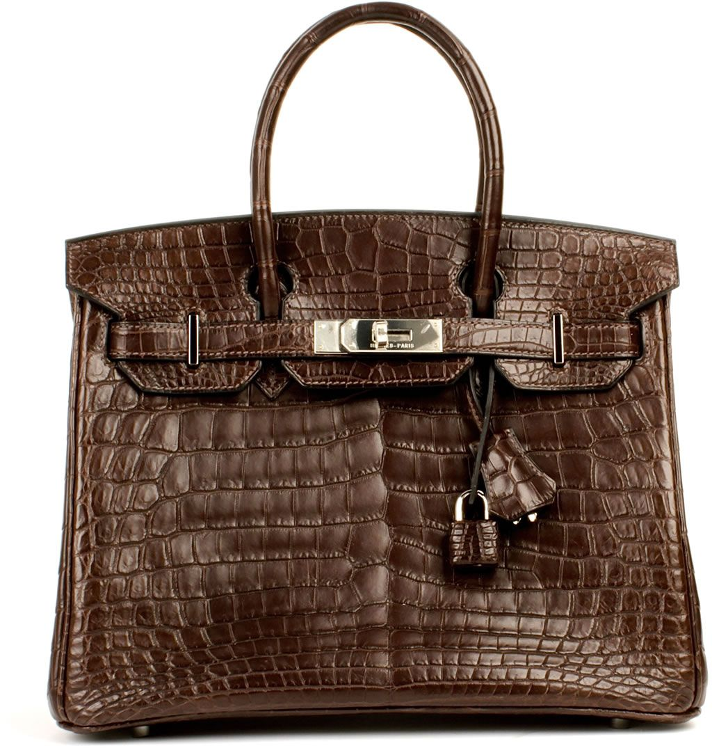 ffc3c7ff62a Hermès dark brown crocodile Birkin bag
