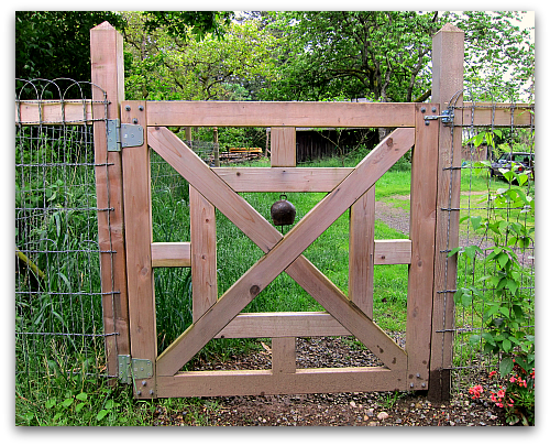 Warn And Welcome Old Bell For A New Gate Tall Clover Farm Garden Gates And Fencing Garden Gate Design Garden Gates