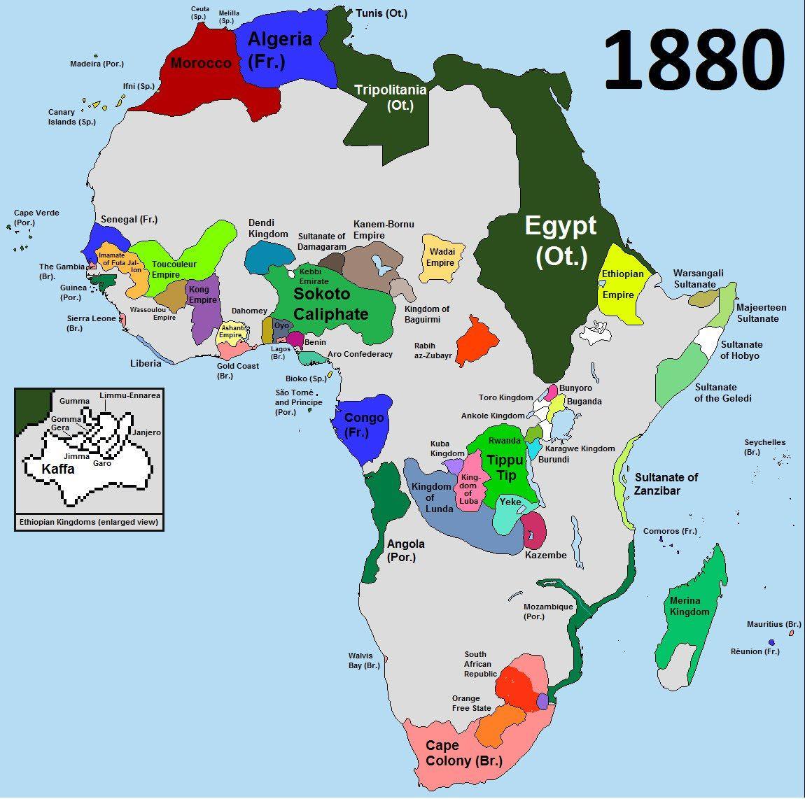 Africa 1880 Before The Scramble For Africa Afrikanische Geschichte Illustrierte Karten Kartographie