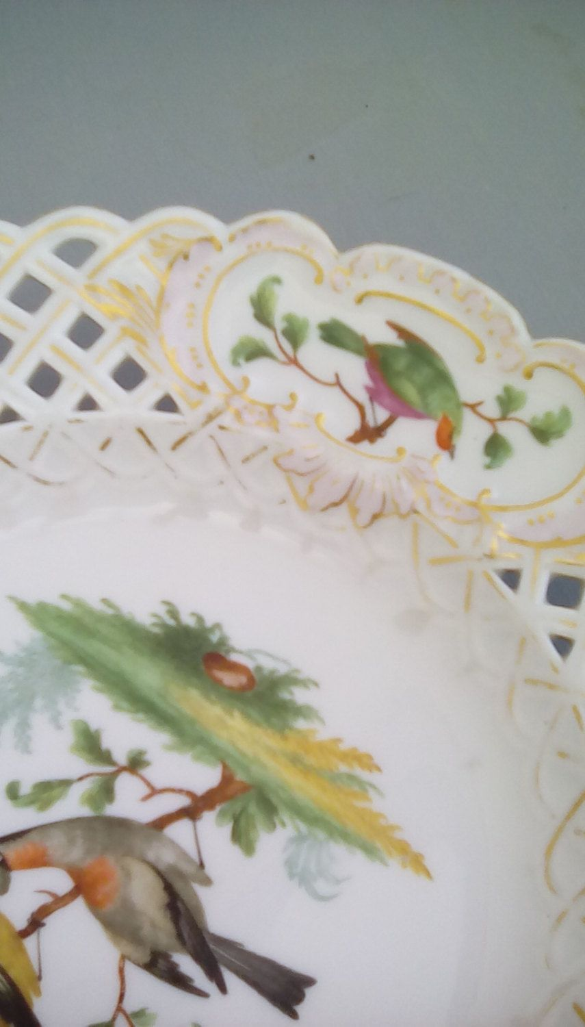Meissen 19th century reticulated by FrenchVintageMaison on Etsy