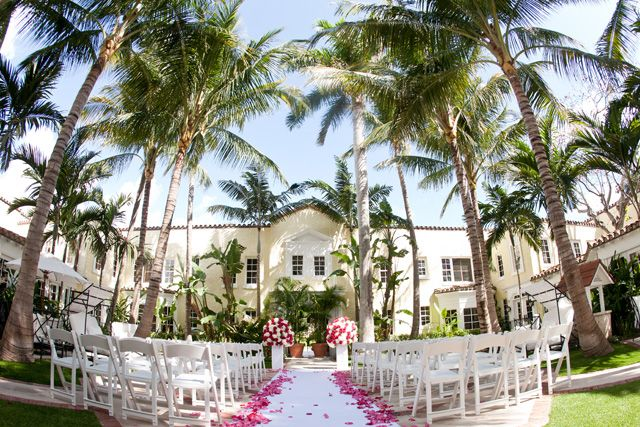 Courtyard Ceremony At The Brazilian Court Cafe Boulud Gorgeous Things I Love Pinterest Weddings And Wedding