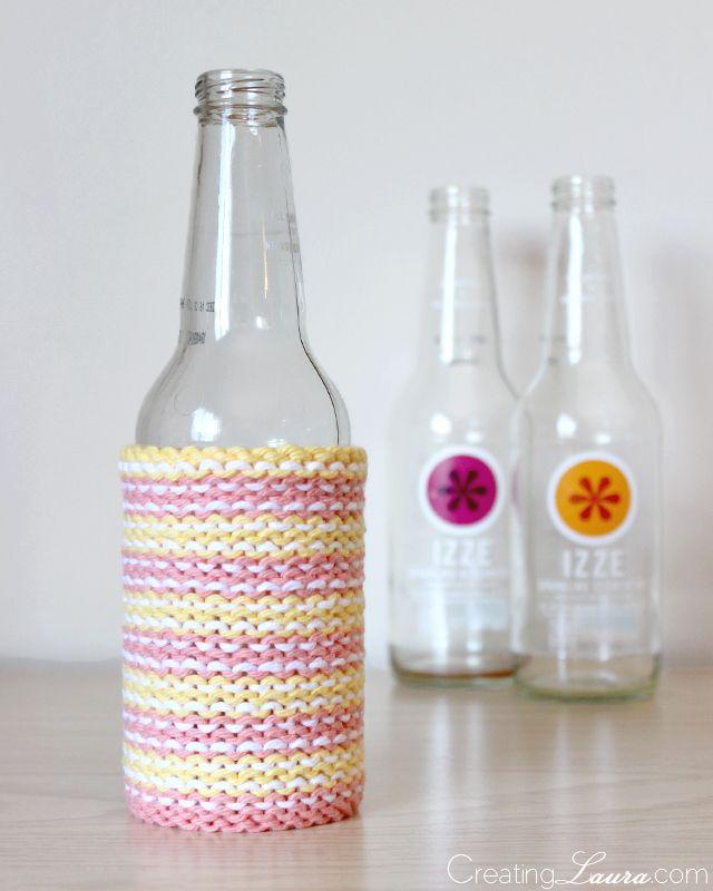 DIY: knit bottle cozy | Knitting | Pinterest | Cosas para hacer y Cosas