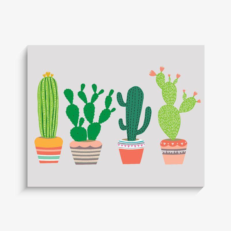 Cactus Wall Art cactus garden art print | garden art, cacti and gardens