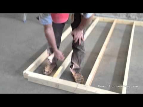 Wood Stud Wall Framing | Basement walls | Pinterest | Videos, House ...