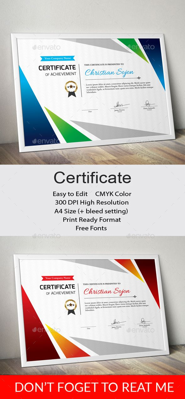 Certificate Certificate Template And Infographic Templates
