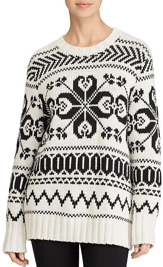 Lauren Ralph Lauren Graphic Knit Crewneck Sweater Fair