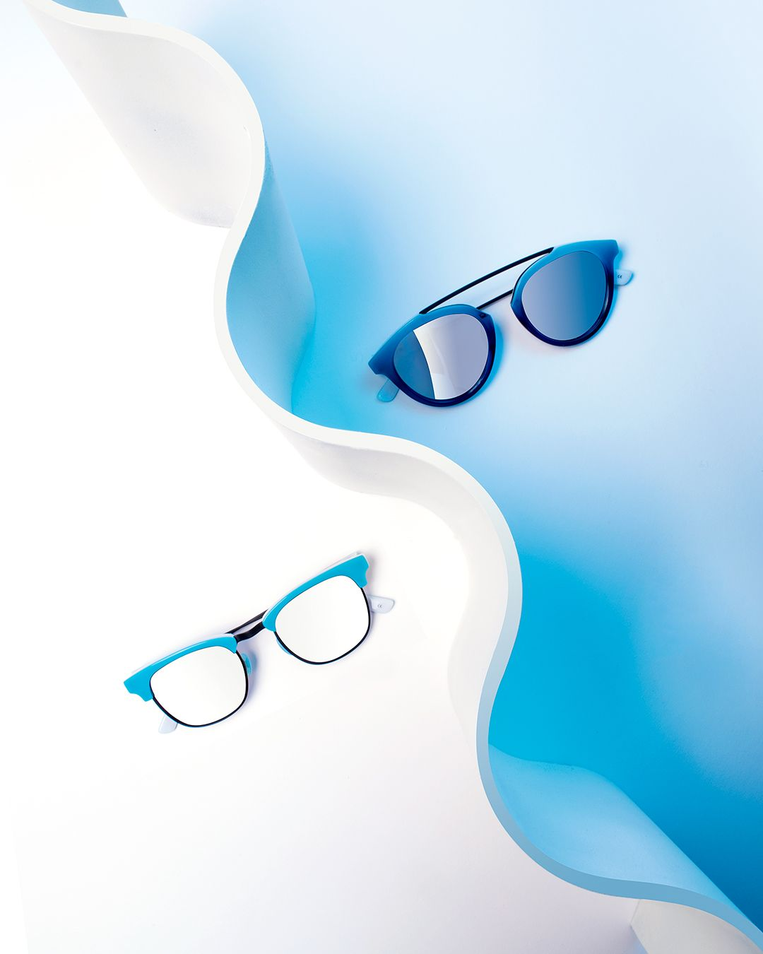 The Shark Attack collection possesses an acetate that captures the ocean's vivid blue hues from rich Prussian to striking azure.  #westwardleaning
