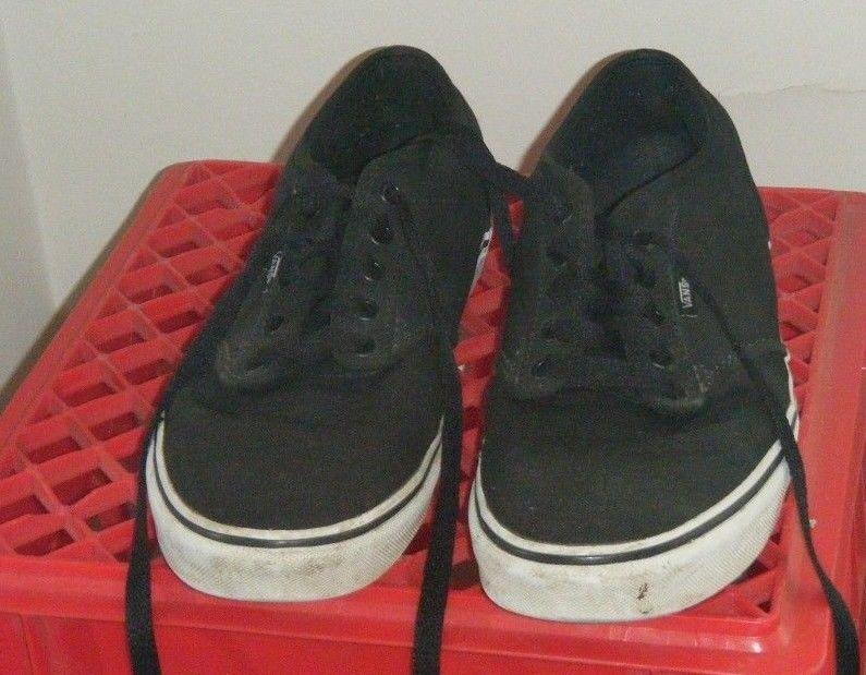 acd3b37467 VANS ATWOOD CANVAS BLACK TRUE WHITE VN 0TUY187 ATHLETIC SKATE MEN S SIZE 10  Used  VANS  Skateboarding