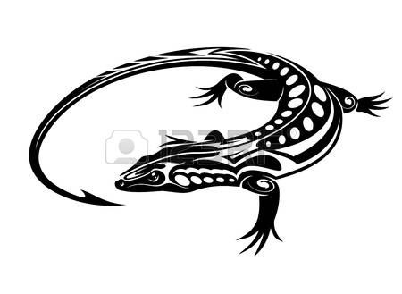 Black Iguana Lizard In Tribal Style Isolated On White Background Stock Vector Tribal Animal Tattoos Tribal Tattoos Tribal Tattoos With Meaning