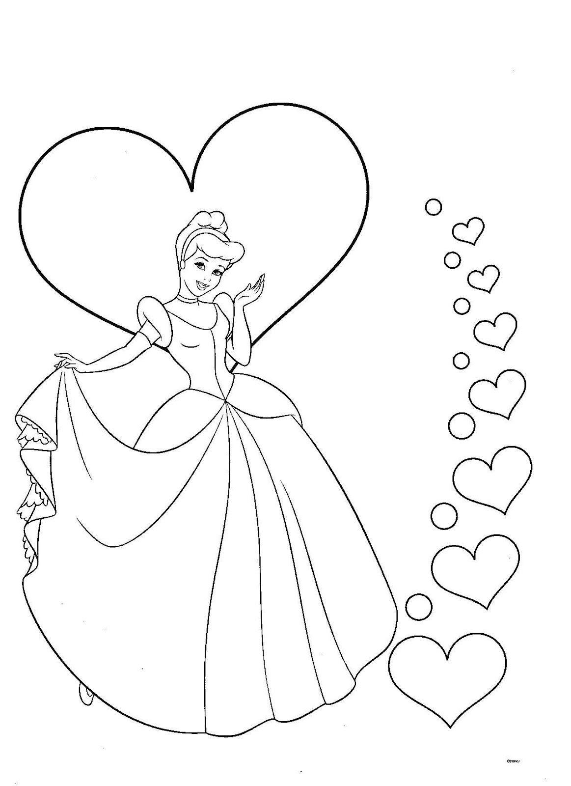Dibujo de princesa para colorear cinderella pinterest disney