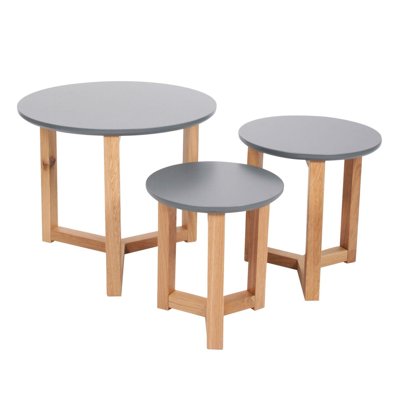 wohnzimmermobel oslo : Beistelltisch 3er Set Knock On Wood Tischlein Deck Dich