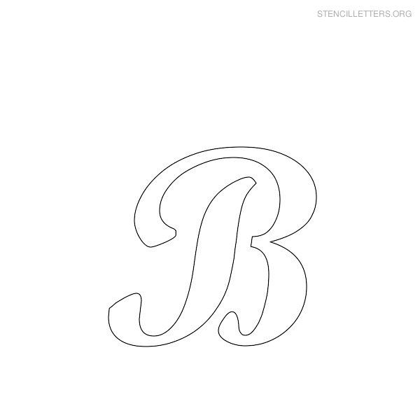 Free Printable Alphabet Stencils Stencil Letters B Printable Free