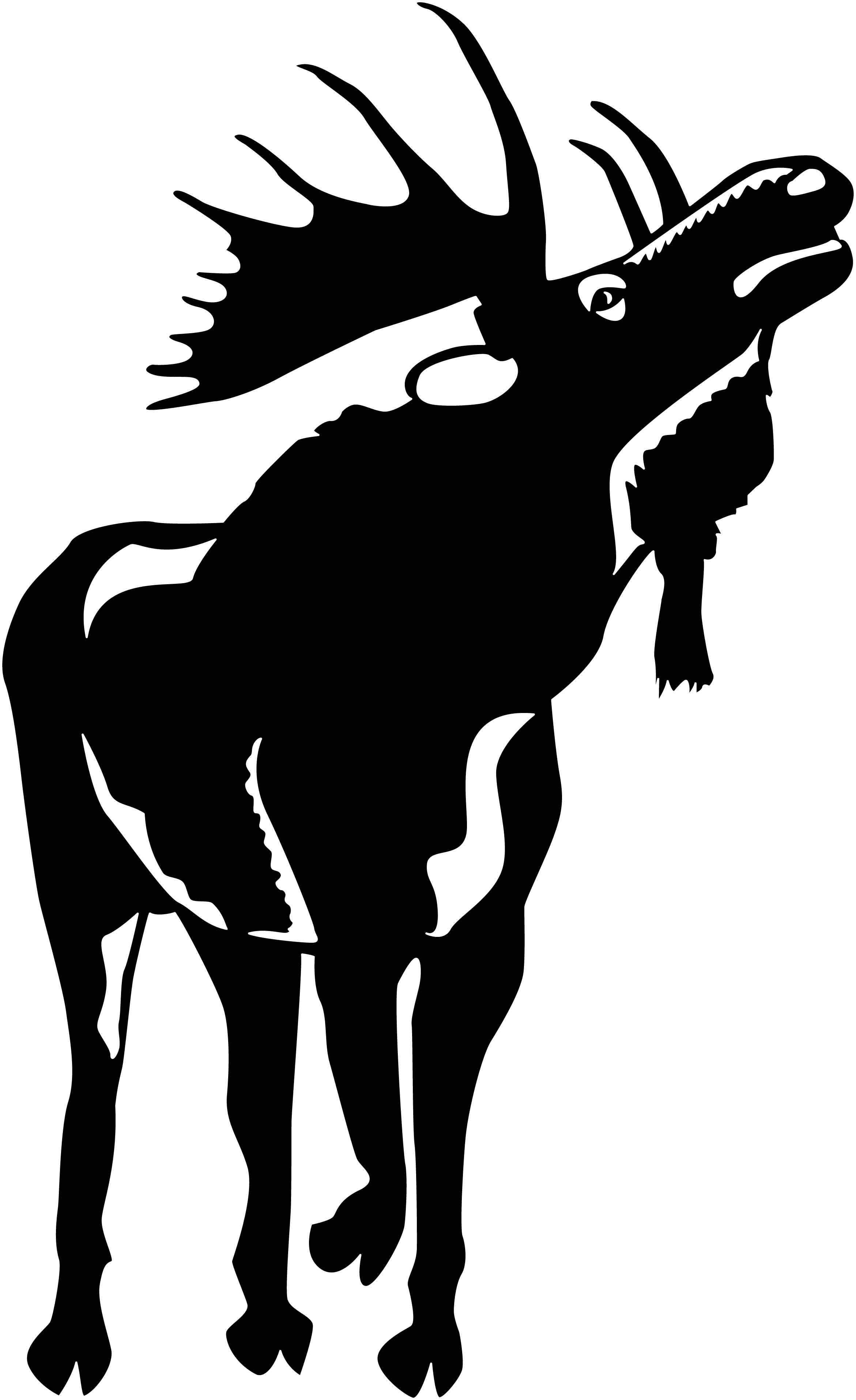 Moose Free DXF file Moose silhouette, Scroll saw
