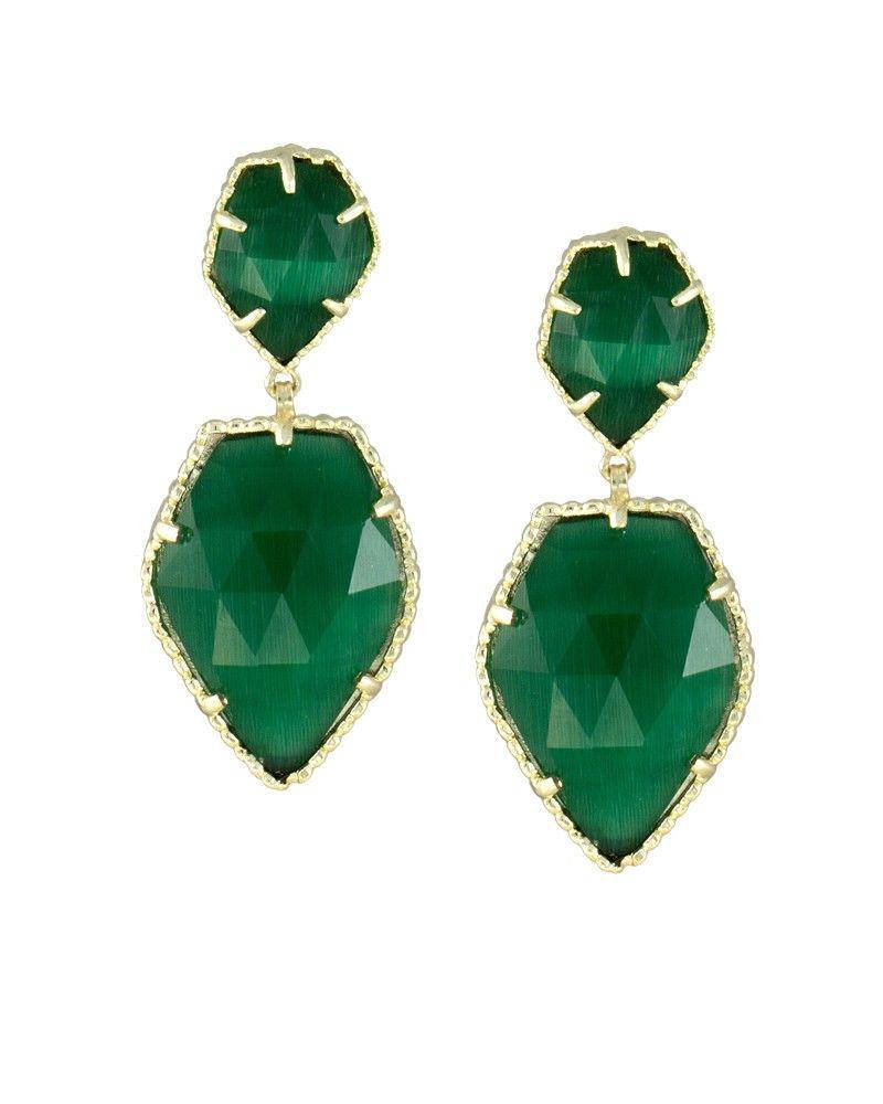 f3359db82 Selma Statement Earrings in Emerald Green - Kendra Scott Jewelry ...