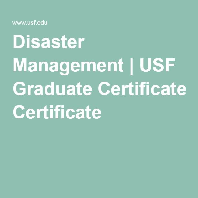 Disaster Management Usf Graduate Certificate Weather Warning