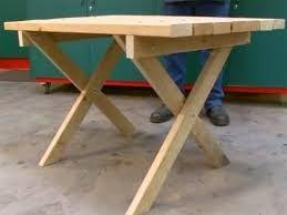 resultado de imagen para mesas de palet con patas desmontables tipo caballetes - Mesas De Palet
