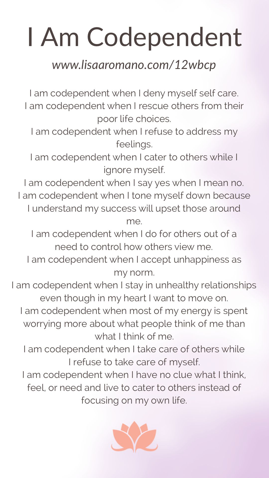I Am Codependent In