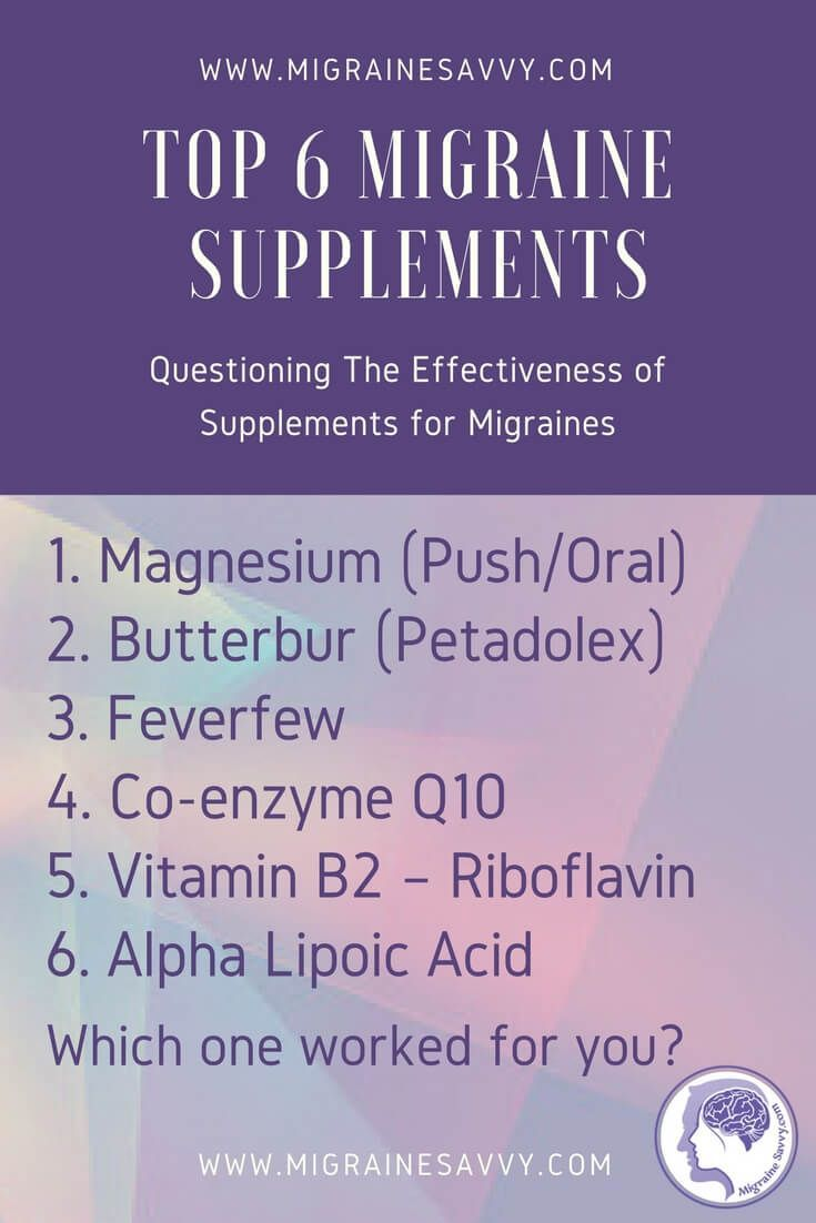 Keen to prevent your migraines? Here are the top six most effective and scientifically proven supplements for migraines, plus some other alternatives to hold off those nasty attacks. #Understandingmigraines