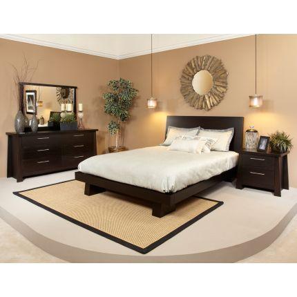 rc willey ligna zen collection 6 piece queen bedroom set