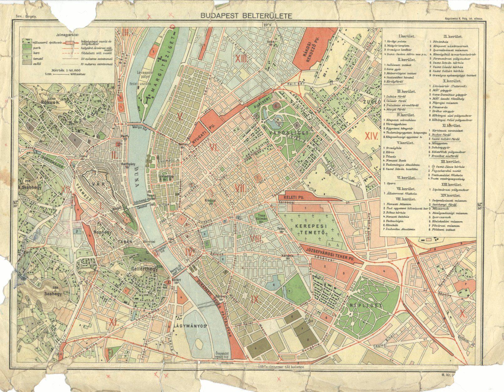 térkép hu budapest http://villamosok.hu/metro/terkep/bp1930. | Budapest retro  térkép hu budapest