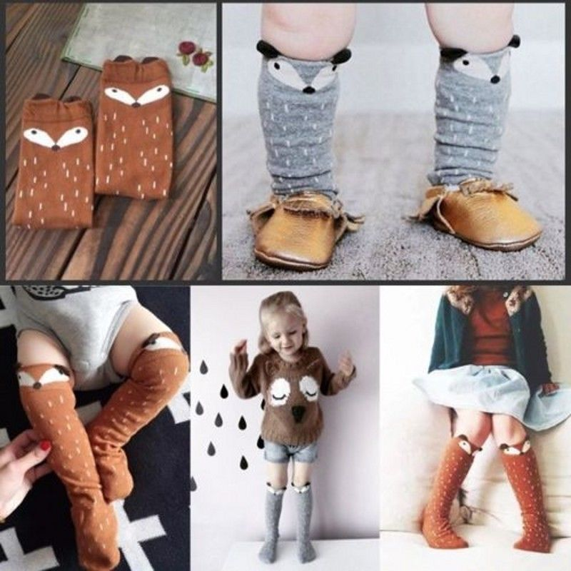 Toddler Growing Up Baby Kids Girl Cotton Fox Tights Socks Hosiery Pantyhose