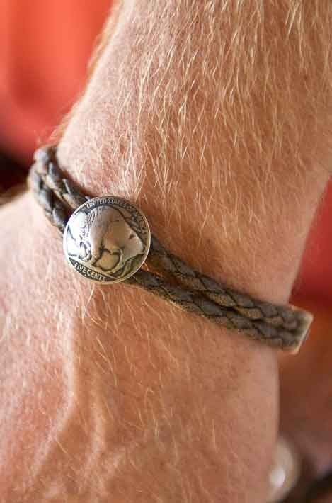 Buffalo Nickel Leather Bracelet Love All Things