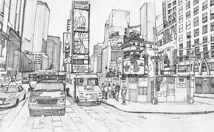 Dibujos Para Colorear Para Adultos New-York