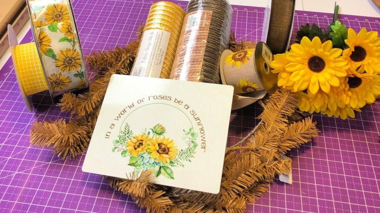 Photo of How to make a ruffled sunflower wreath