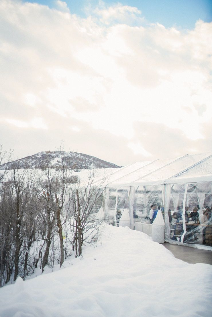 A strapless wedding gown for a winter wedding at Blue Sky Ranch + ...