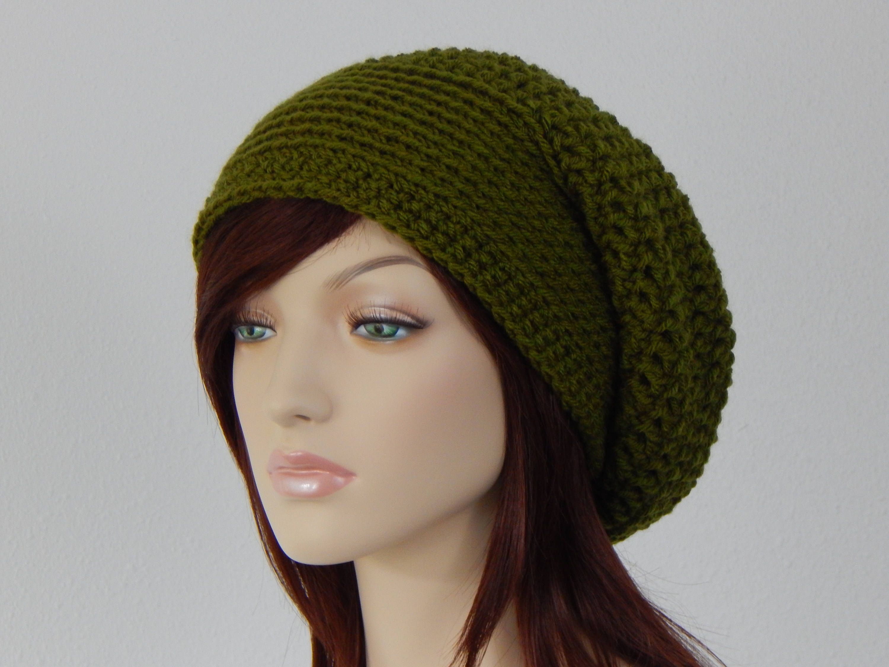 Olive Green Slouch Hat 75953f79dd5